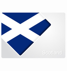 Scottish flag design background vector