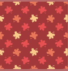 seamless pattern of colourful maple leaves vector image
