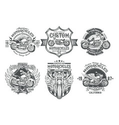 set black vintage badges emblems with a vector image