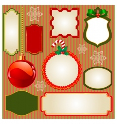 set of Christmas frames vector image