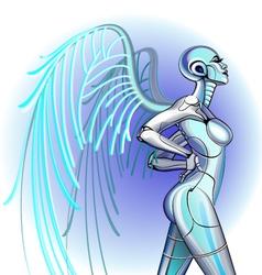 Sexy girl robot vector