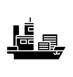 ship cargo container icon vector image