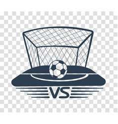 silhouette football vs vector image