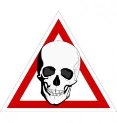 skeleton on board vector image vector image