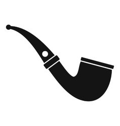 Smoking pipe icon simple style vector
