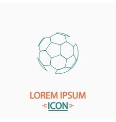 Soccer ball computer symbol vector