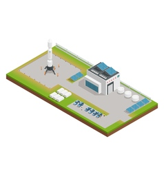 Space Isometric Composition vector image