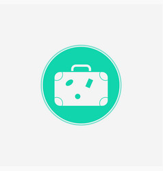 suitcase icon sign symbol vector image