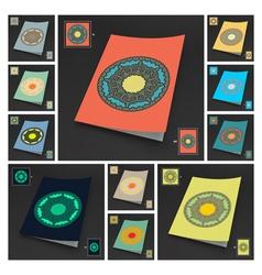 Textbook Booklet or Notebook Mockup Set vector