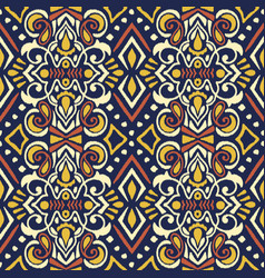 tribal ethnic texture ikat fabric vector image