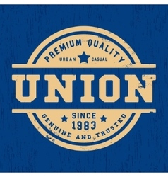 Union vintage stamp vector image