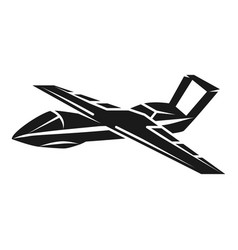 unmanned aircraft icon simple style vector image