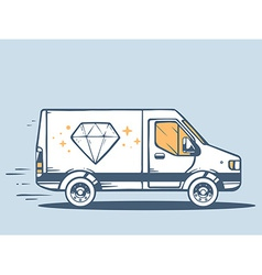 Van free and fast delivering diamond to c vector