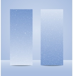 Vertical Blue Rectangle Banners Snow Winter vector image