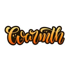 Warmth orange brush type lettering vector