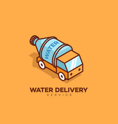 Water delivery logo vector