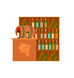 winery alcoholic drinks selling store stand vector image