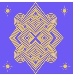 Abstract ethno pattern vector image vector image