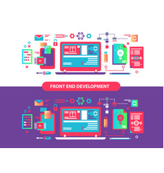 front and development vector image