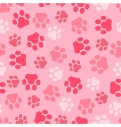 pattern seamless of background animal pink vector image vector image