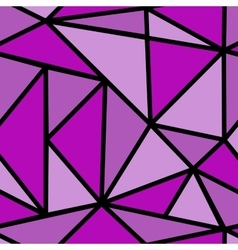 Seamless pattern with purple triangle vector image vector image