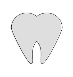 tooth dental symbol vector image