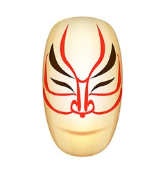 Traditional Japan Mask Kabuki vector image