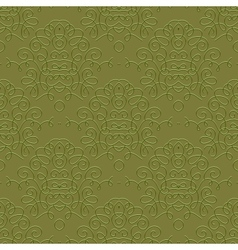Vintage linear damask pattern with thin lines vector image