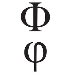 greek Symbol Phi vector image