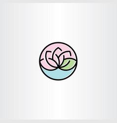 lotus clip art symbol vector image vector image