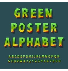 Poster alphabet and numbers vector image