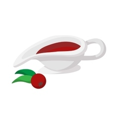 Rowan sauce cartoon icon vector