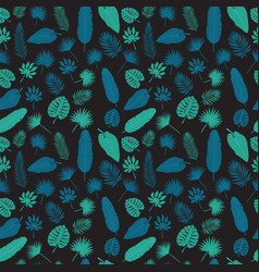 tropical leaves seamless pattern exotic floral vector image