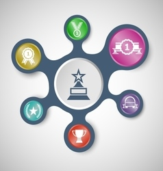 Award infographic templates with connected vector image vector image