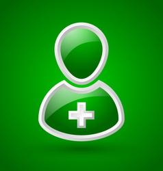 Glossy doctor or nurse icon vector image