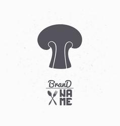 hand drawn silhouette of mushroom vector image