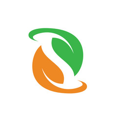 leaf ecology icon logo image vector image vector image