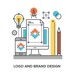 logo and brand design vector image