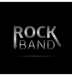 Rock band text vector image