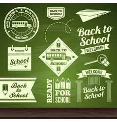 school set labels vector image