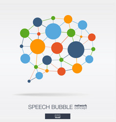abstract social media market background network vector image vector image