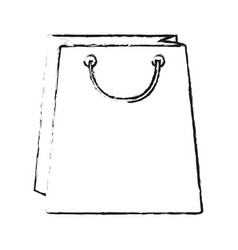 blurred silhouette bag for shopping vector image vector image