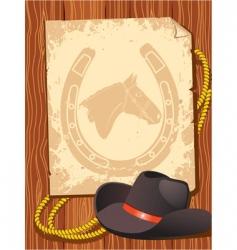 cowboy elements hat vector image vector image