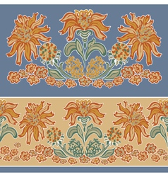 floral pattern seamless vector image vector image