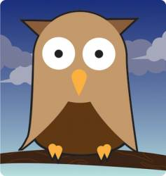 owl illustration vector image vector image