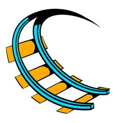 roller coaster ride icon icon cartoon vector image