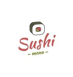 Sushi menu cover vector image vector image