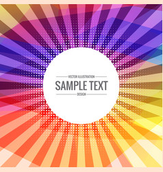 Abstract colorful background with transparent rays vector