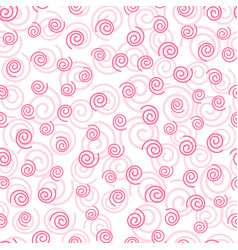 abstract doodle curly pink geometric seamless vector image