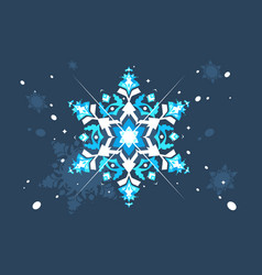 abstract snowlflake flat design vector image